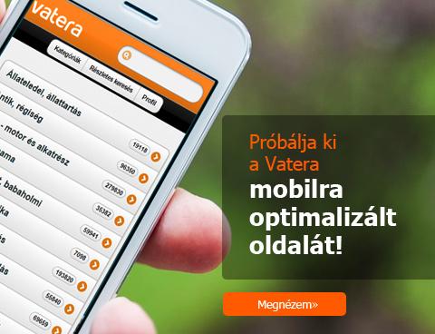Próbálja ki a Vatera mobilra optimalizált oldalát!