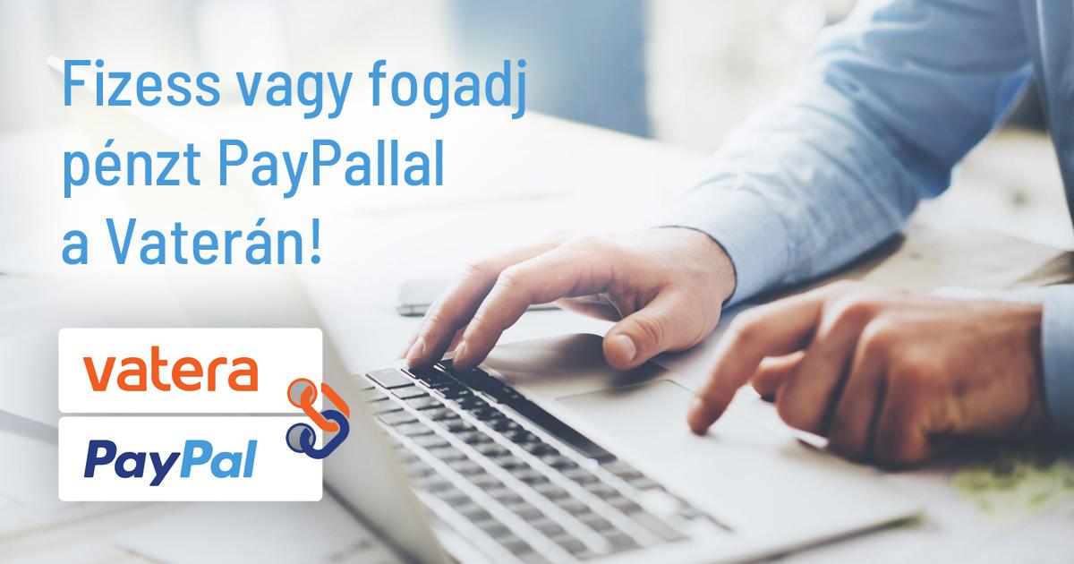 Elindult a PayPal fizetés a Vaterán!