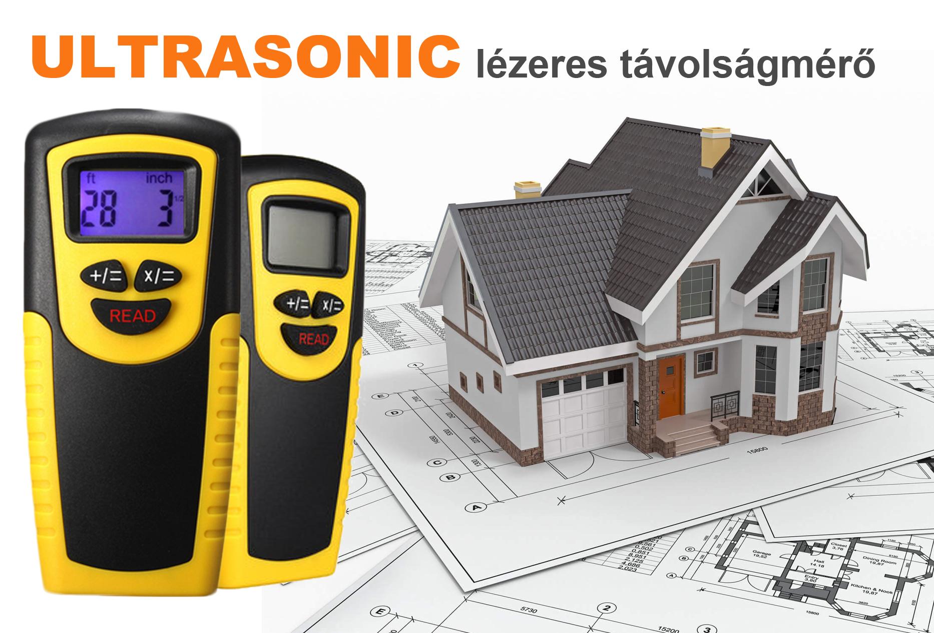 Ultrasonic lézeres távolságmérő  75e613e1a4