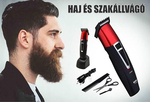 BOSU akkumulátoros haj és szakállvágó szett BY-2008. CSAK 2.490 Ft - ért 88bbf2398c
