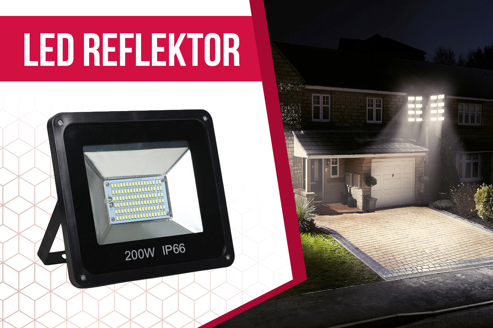 200W - os LED reflektor  21296b00de