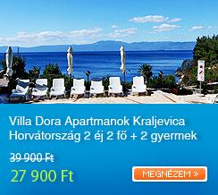Villa Dora Apartmanok Kraljevica Horv�torsz�g 2 �j 2 f� + 2 gyermek