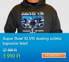 Super Bowl XLVIII dueling sz�rke kapucnis fels�