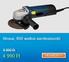 Straus, 650 wattos sarokcsiszol�