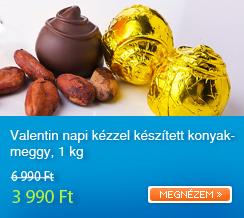 Valentin napi k�zzel k�sz�tett konyakmeggy 1 kg