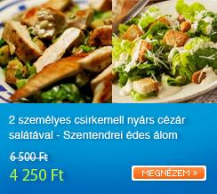2 szem�lyes csirkemell ny�rs c�z�r sal�t�val - Szentendrei �des �lom desszerttel