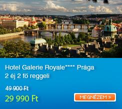 Hotel Galerie Royale**** Pr�ga 2�j 2f� reggeli