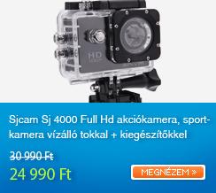 Sjcam Sj 4000 Full Hd akci�kamera, sportkamera v�z�ll� tokkal + kieg�sz�t�kkel (fekete)