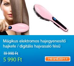 M�gikus elektromos hajegyenes�t� hajkefe / digit�lis hajvasal� f�s�