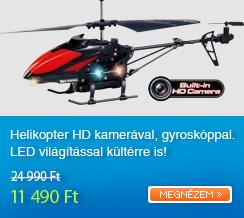 Helikopter HD kamer�val, gyrosk�ppal. LED vil�g�t�ssal k�lt�rre is!