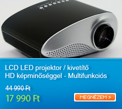 LCD LED projektor / kivet�t� HD k�pmin�s�ggel - Multifunkci�s