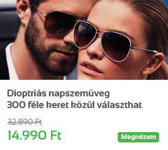 Dioptri�s napszem�veg - 300 f�le keret k�z�l v�laszthat