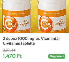 2 doboz 1000 mg-os Vitamint�r C-vitamin tabletta - a R�zsakert Gy�gyszert�rt�l