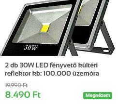 2 db 30W LED f�nyvet� k�lt�ri reflektor kb: 100.000 �zem�ra