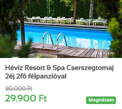 H�v�z Resort & Spa Cserszegtomaj 2�j 2f� f�lpanzi�val