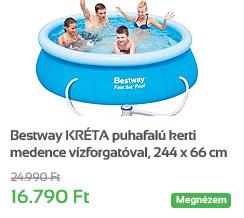 Bestway KR�TA puhafal� kerti medence v�zforgat�val, 244 x 66 cm