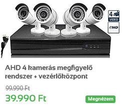AHD 4 kamer�s megfigyel� rendszer + vez�rl�k�zpont