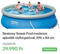 Bestway Sweet Pool medence aj�nd�k v�zforgat�val, 396 x 84 cm