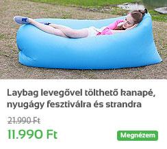 Laybag leveg�vel t�lthet� kanap�, nyug�gy fesztiv�lra �s strandra -k�k