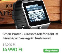Smart Watch - Okos�ra telefonk�nt is! F�nyk�pez� �s egy�b funkci�val!