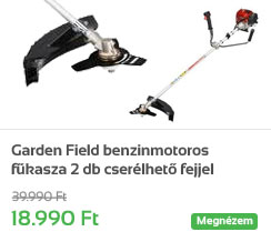 Garden Field benzinmotoros f�kasza 2 db cser�lhet� fejjel